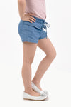 Drawstring Denim Shorts - Denim (GPS 060)