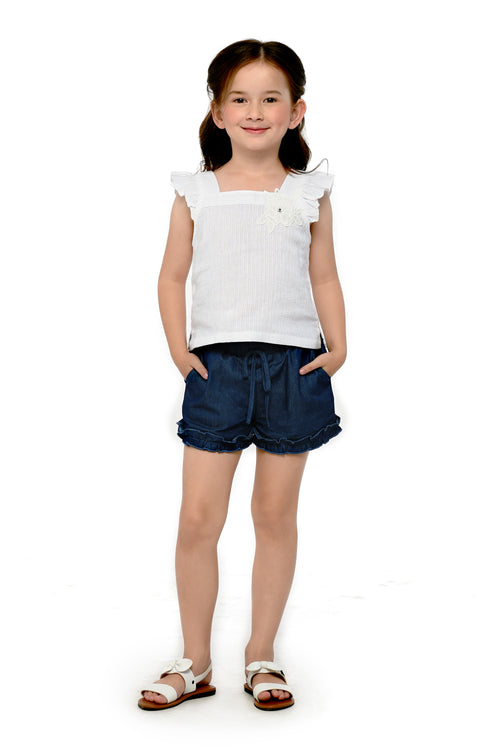 Cotton Top and Denim Shorts Set (GSET 051)