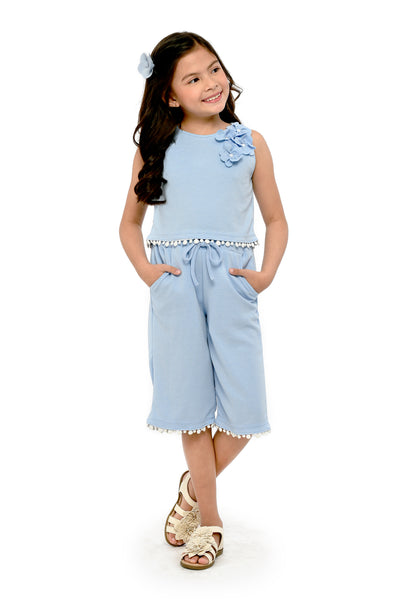 Cropped Top and Culottes Set (GSET 053)