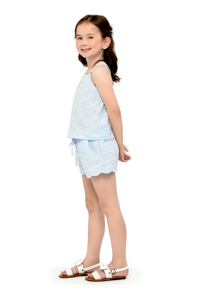 Cross-Back Top and Drawstring Shorts  (GSET 054)
