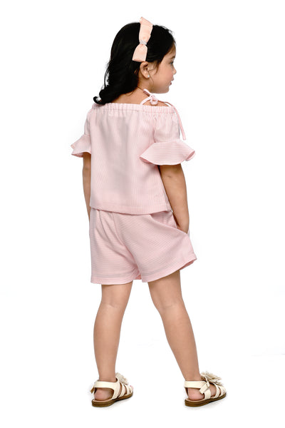 Strappy Smocking Top and Shorts (GSET 068)