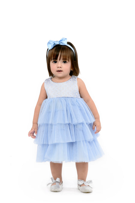 Tiered Dress (IGDS 158) Powder Blue