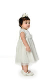 Floral Tulle Dress - White (IGDS 153)