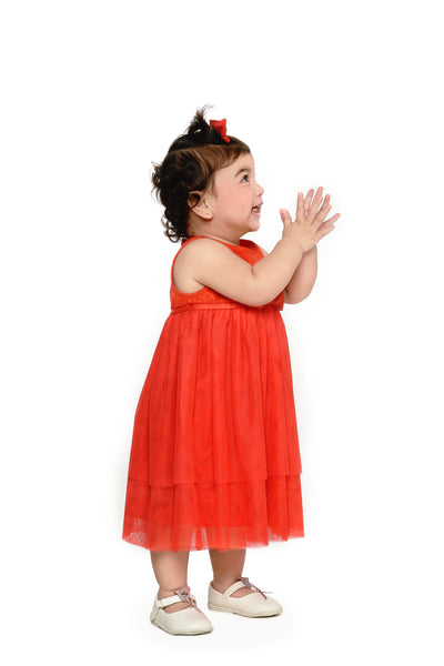 Tiered Dress (IGDS 158) Red