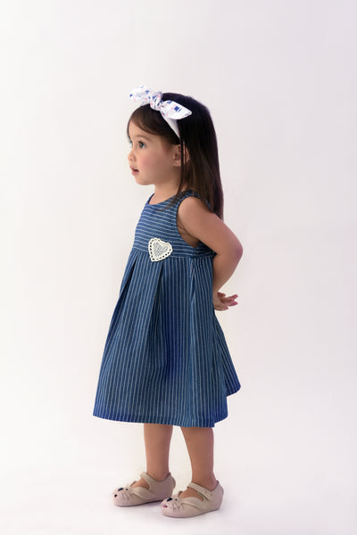 Babydoll Low-Back Dress - Blue (IGDS 083)