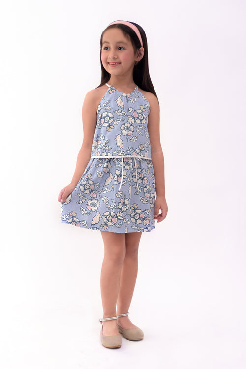 Floral Haltered Dress - Lilac Printed (GDS 262)