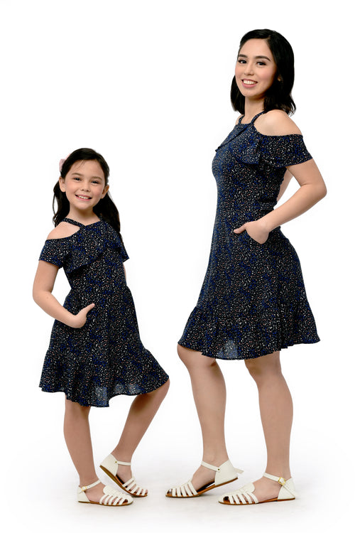 Printed Ruffles Dress (MDS 056)