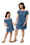 Chambray Bardot Dress (MDS 059)