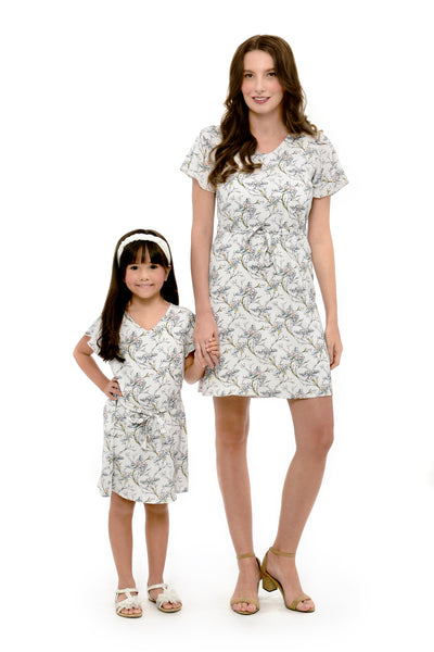 Floral Shift Dress (MDS 065) White