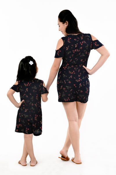 Cold-Shoulder Floral Romper (MJP-021)