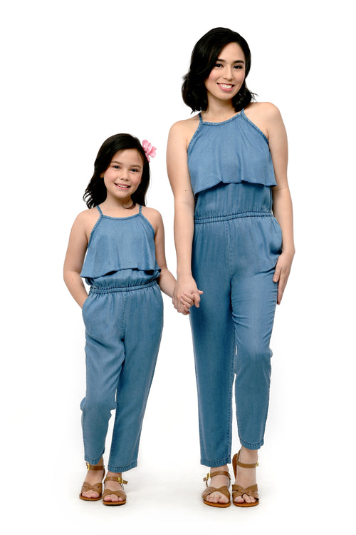 Halter Denim Jumpsuit (MJP 027)