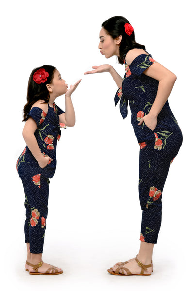 Floral Cold-Shoulder Jumpsuit (MJP 028)