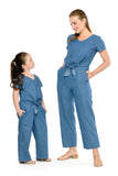 Tie-Front Denim Jumpsuit (MJP 060)