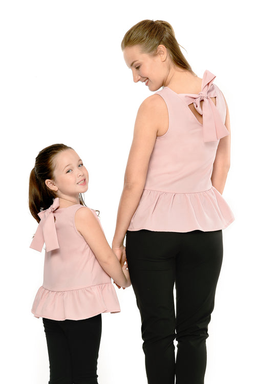 Peplum Top (MTP 011) - Dusty Rose