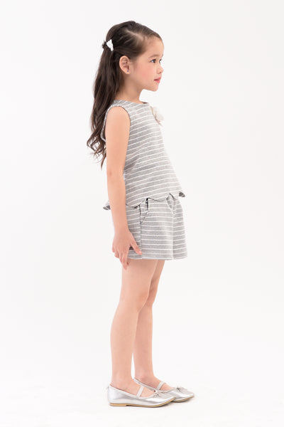 Scallop Hem Top & Shorts Set (GSET 023)