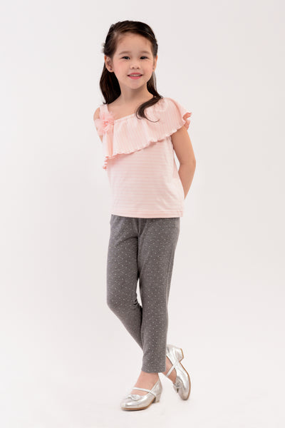 Asymmetrical Knit Top - Pink (GBL 361B)