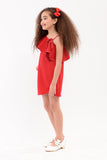 One-side Bardot Dress - Red (GDS 339)