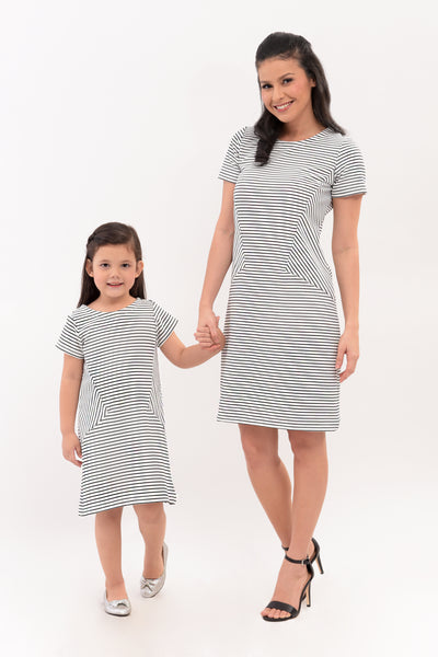 Stripes Knit Shift Dress (MDS 046)