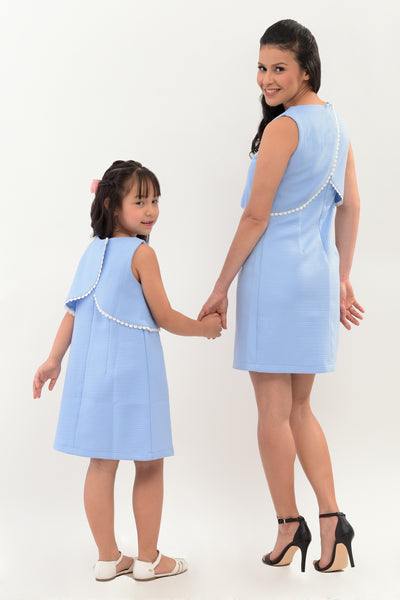 Layered Shift Dress with Trim Details (MDS 042)