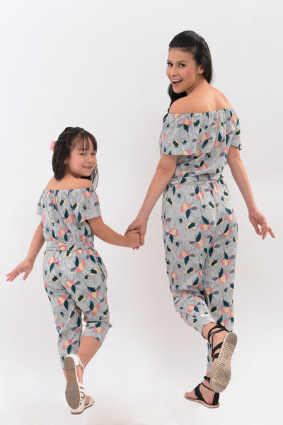 Off Shoulder Printed Jumpsuit (MJP 006)