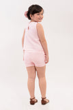 Side Ruffles Sleeveless Top with Shorts Set (GSET 021)