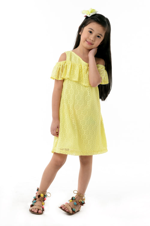 One Shoulder Ruffled Dress (GDS 364)