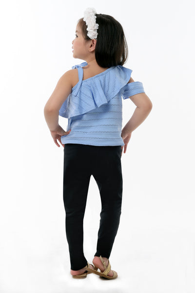 One Shoulder Ruffle Top (GBL 378)