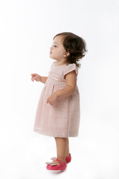 Cap Sleeves Empire cut Dress - Dusty Pink (IGDS 103)