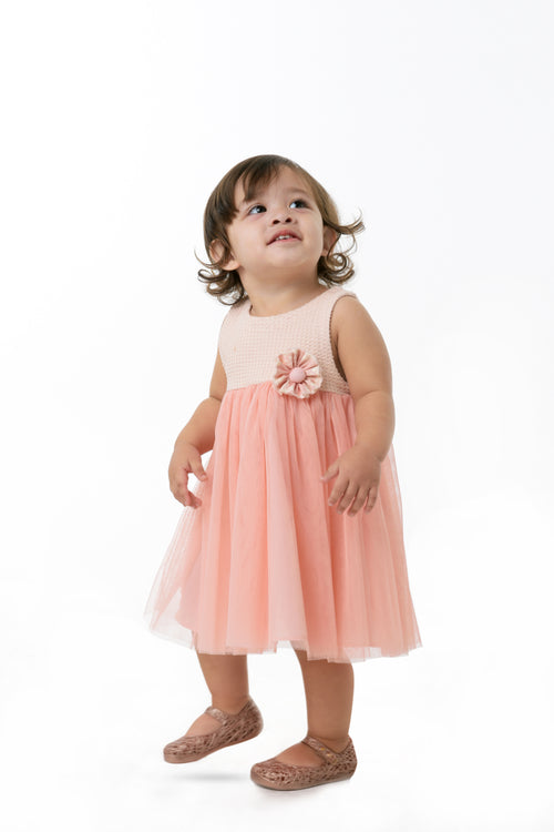 Empire Cut Dress - Peach (IGDS 099)