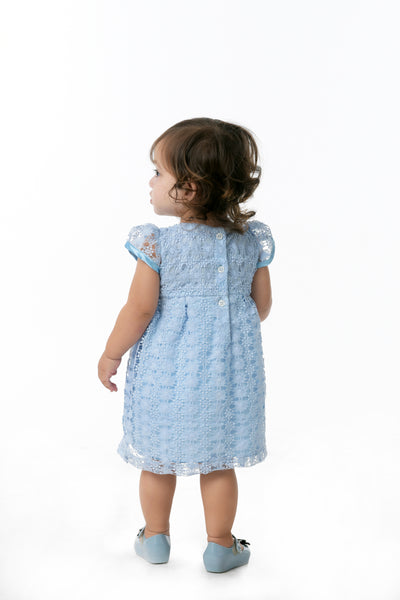 Cap Sleeves Empire Cut Dress - Periwinkle (IGDS 103)