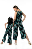 Printed Strappy Jumpsuit with Side slits (MJP 016)