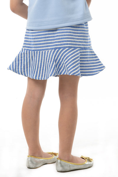 Flared Striped Skirt - Blue (GSK 085)
