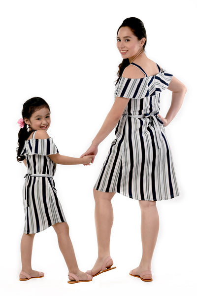 Striped Off-Shoulder Dress (MDS 052)