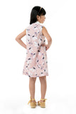 Collared Sleeveless Shift Dress - Pink Floral (GDS 341)