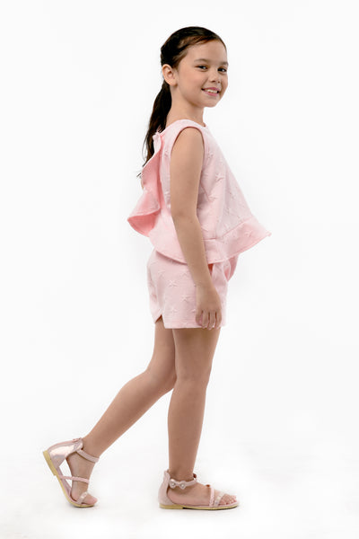 Ruffled Sleeveless Top & Day Shorts (GSET 035)
