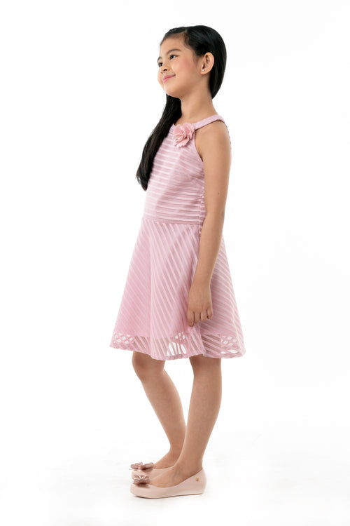 Cut Out Back Halter Dress - Rose (GDS 362)