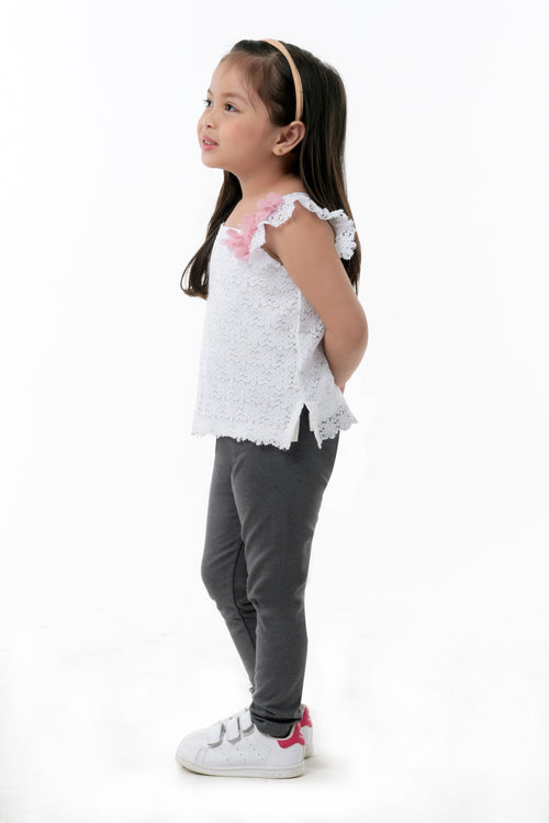 Ruffle Sleeve Square Neck Top (GBL 349)