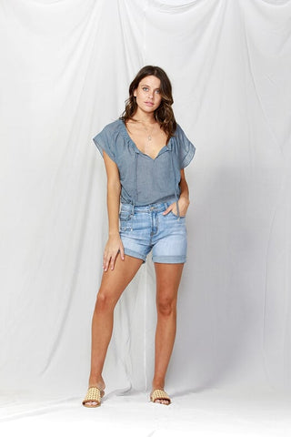 Kurt Denim Shorts - Debbie Lee Fashions