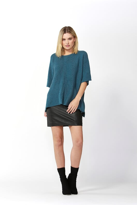 Aveen Cropped Knit - Blue Illusion - Debbie Lee Fashions