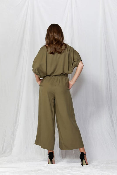 Rush Hour Tie Waist Pant - Debbie Lee Fashions