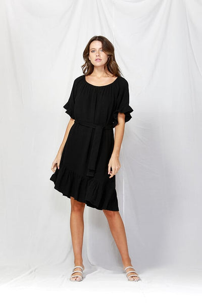 Dakota Ruffle Dress - Debbie Lee Fashions