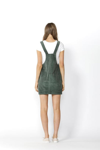 Candid Cord Pinafore - Rosemary - Debbie Lee Fashions