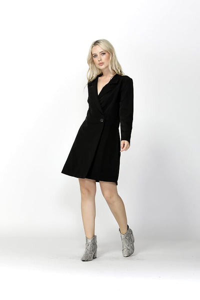 High Hopes Blazer Dress - Black - Debbie Lee Fashions