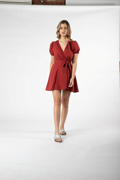 Panama Jack Dress Brick - Debbie Lee Fashions