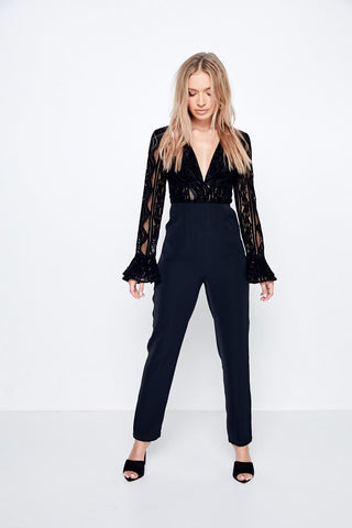 Read My Mind Jumpsuit - Debbie Lee Fashions