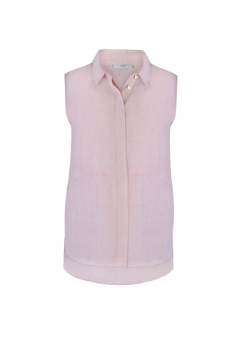 Blush Linen Top - Debbie Lee Fashions