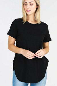 Elwood s/s Tee Black - Debbie Lee Fashions