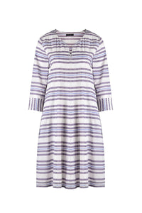 Vista Blue Stripe Dress