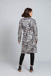 Safari Trench Coat - Black Zebra