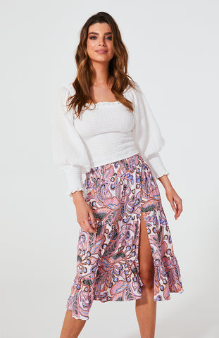 Florence Split Skirt - Debbie Lee Fashions